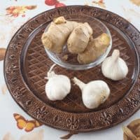 Ginger and Garlic Paste ~ Homemade -- Ingredients gathered