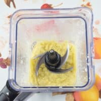 Ginger and Garlic Paste ~ Homemade -- Ginger and garlic processed in a blender