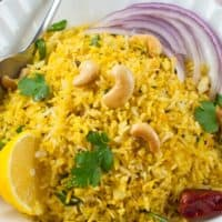 Indian Lemon Rice (Chitranna)