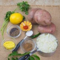 Potato Masala (Curry) - All ingredients gathered