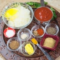 Basic Curry Recipe - all ingredients gathered.