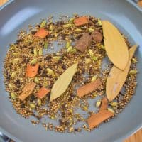Garam Masala Powder Whole spices toasted and ready to be ground into our easy homemade garam masala.