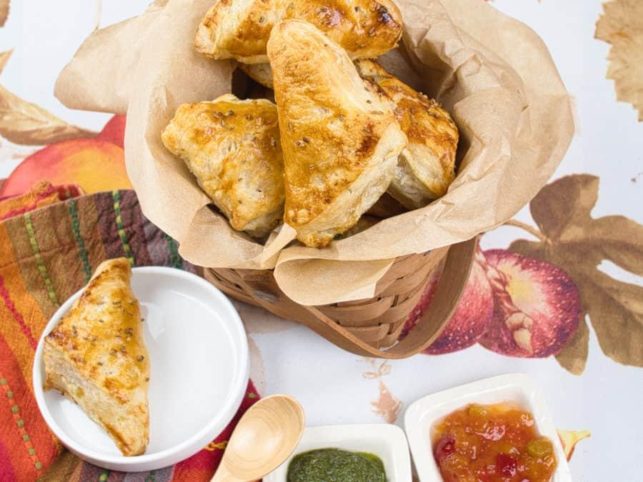 Flaky Puff Pastry Samosas