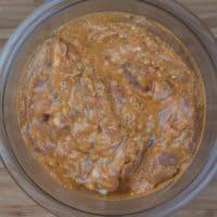 Easy, Enticing Chicken Biryani - Chicken taking a soak.