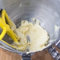 Cardamom Spice Cookies (Indianish) Creaming the butter and sugar together.