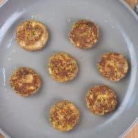 Indian Spiced Kebabs (Kavab) Browned in a pan.