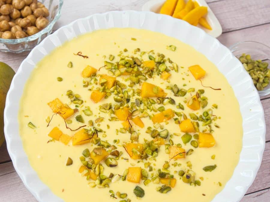 Luscious Mango Custard (Amrakhand)