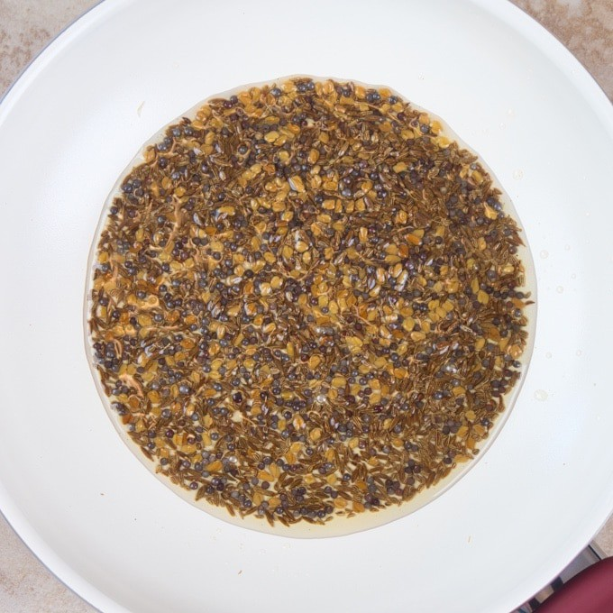 Lemon Pickle Recipe (Nimbu ka Achar) All the pickling spices mixed.