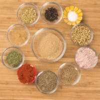 Chaat Masala Spice Mix all the ingredients gathered