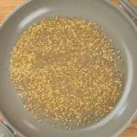 Chaat Masala Spice Mix toasting the spices