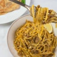 Indian Spaghetti Bolognese