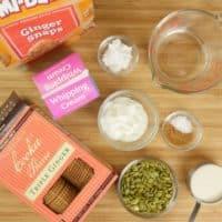 Cardamom Pumpkin Cheesecake (No-Bake) ingredients collected