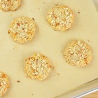 Paleo Coconut Almond Cookies (Gluten-Free) Cookies on a baking sheet cooling.