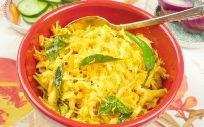 Cabbage Stir-Fry (Kerala Thoran)