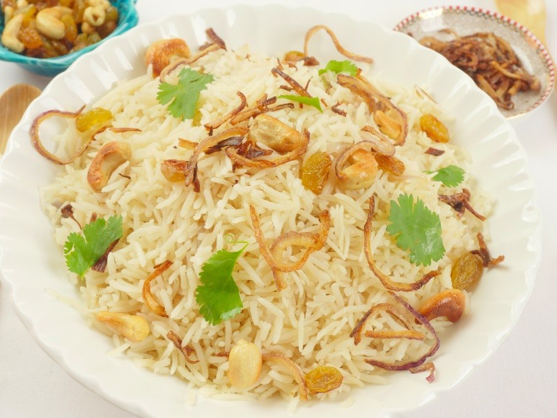 Simple Ghee Rice (Nei Choru)