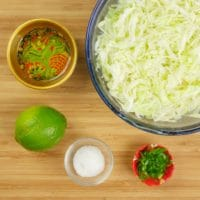 Indian-ish Turkey Burger with a simple cabbage slaw
