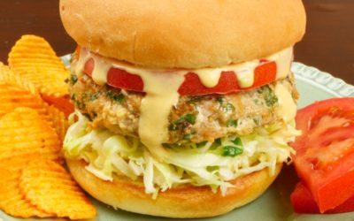 Indian-ish Turkey Burger