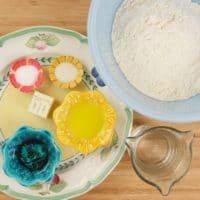 Layered Indian Flatbread (Kerala Parotta) All the ingredients gathered.