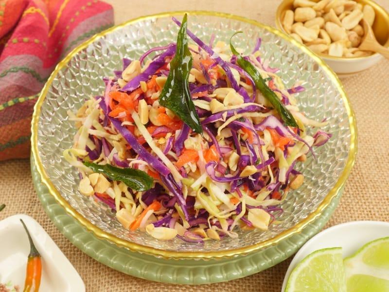Indian-ish Coconut Cabbage Salad