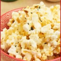 Easy Microwave Curry Popcorn A perfect snack or appetizer served with sweet and salty nuts and flavored with Indian spices.