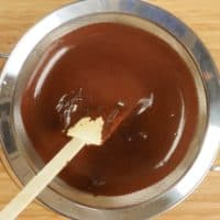 Vegan Chocolate Pudding Two Ways The chocolate pudding mixture is strained to produce a very smooth consistency.