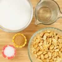 Easy Sweet and Salty Nuts Ingredients gathered and ready for cooking.