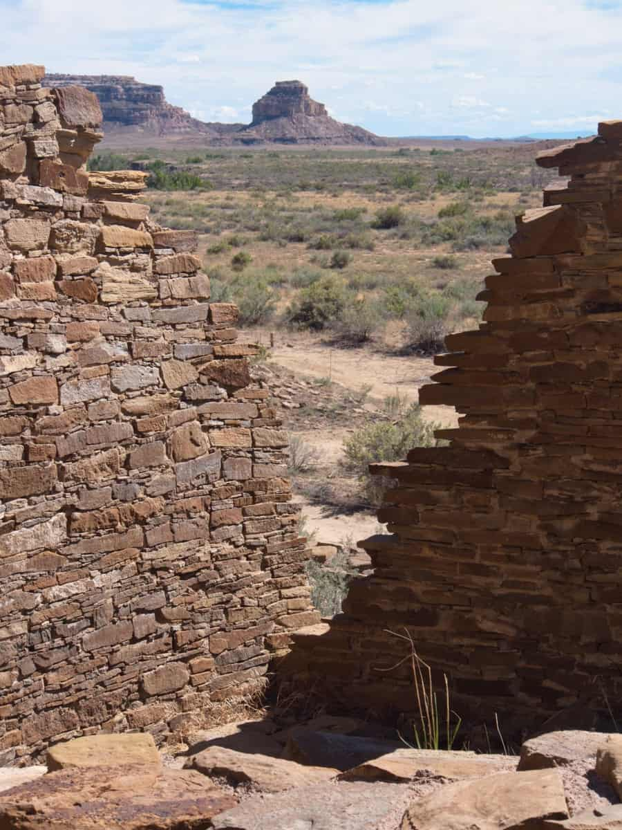 Fajada Butte from the Ruins of Pueblo Bonito