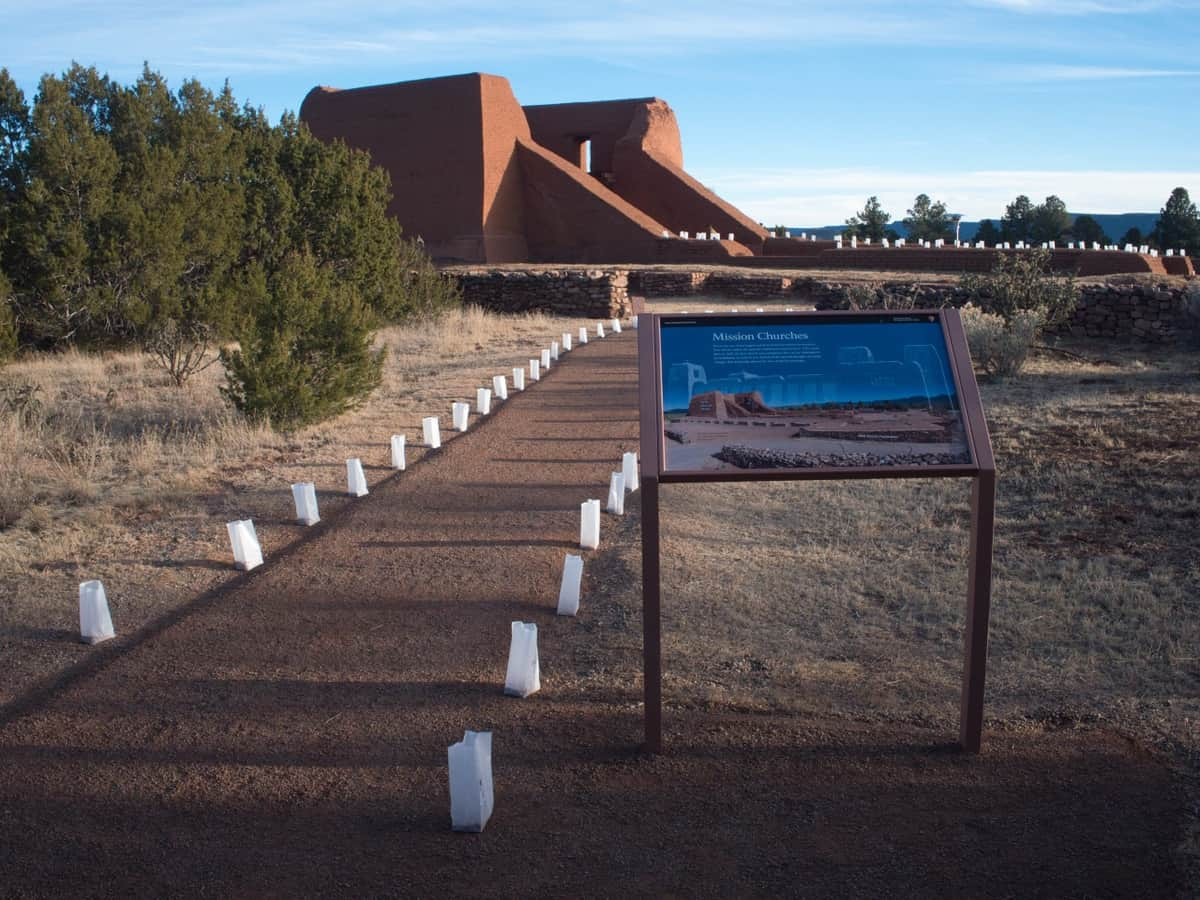 Luminarias Leading to the Ruins of Pecos Pueblo