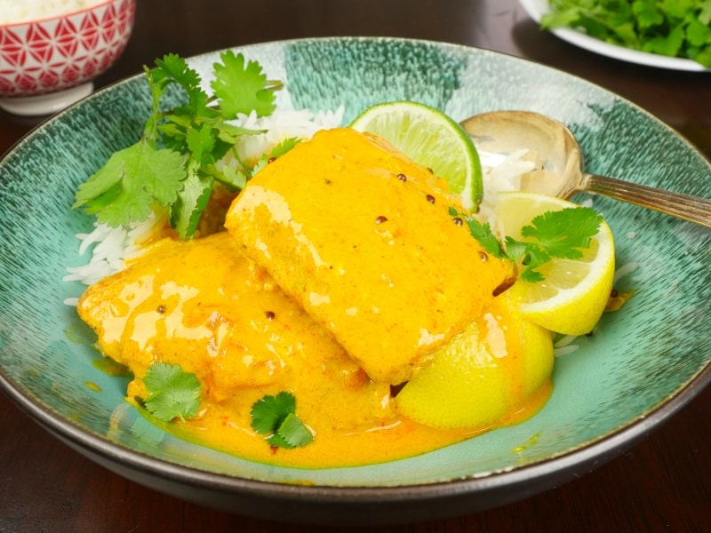 Kerala Fish Curry Slow Baked