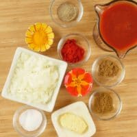 Instant Pot Chicken Tikka Masala Sauce (masala) ingredients gathered.