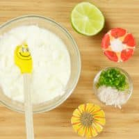 Cooling Raita in 5 Minutes! Ingredients gathered and ready for mixing up.