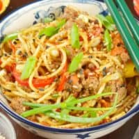 Cumin Lamb Indo-Chinese Noodles