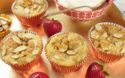 Cardamom Crunch Almond Cupcakes