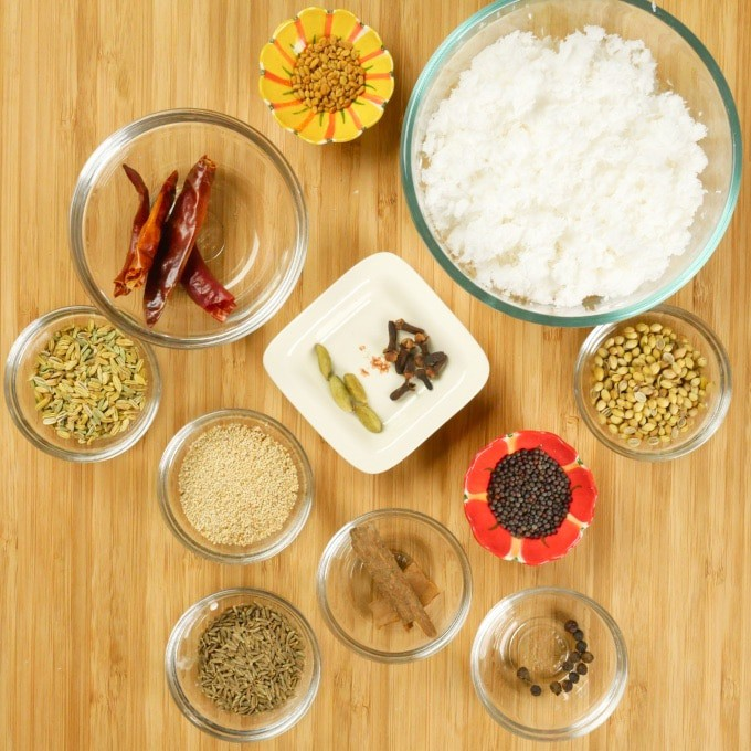 Spices that need to be toasted.