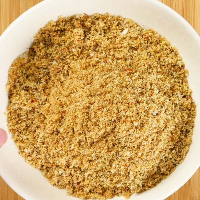 Spices and coconut ground into s fine powder.