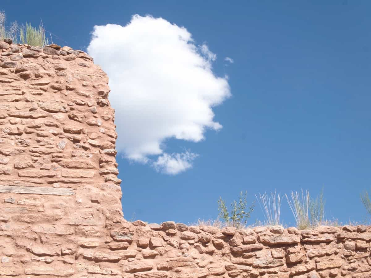 Cloud Over The Ruins, Chaco Canyon, New Mexico