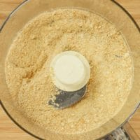 Easy Serradura (Sawdust Pudding) The biscuit crumbs processed and ready for layering.