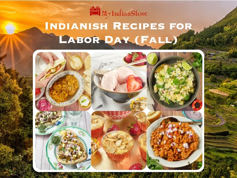 Indian-ish Recipes for Fall - Six recipes for family favorites, ice cream, burgers and more!