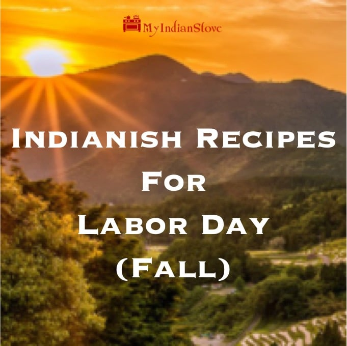 Indianish Recipes for Fall - Six recipes for family favorites, ice cream, burgers and more!