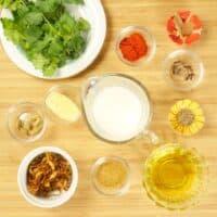Goan Chicken Biryani - Marinade ingredients gathered.