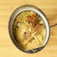 Alonna's Chai Recipe - Spices in a coffee grinder ready to go for a spin.