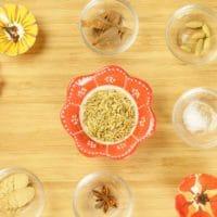 Alonna's Chai Recipe - Chai masala ingredients gathered.