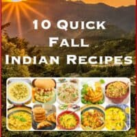 10 Fall Quick Indian Recipes ~ A collection of quick sweet and savory recipes for the cooking weary. All with Indian flavors.10 Fall Quick Indian Recipes ~ A collection of quick sweet and savory recipes for the cooking weary. All with Indian flavors.