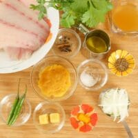 Indian Fish Curry (Recheado) Ingredients gathered.