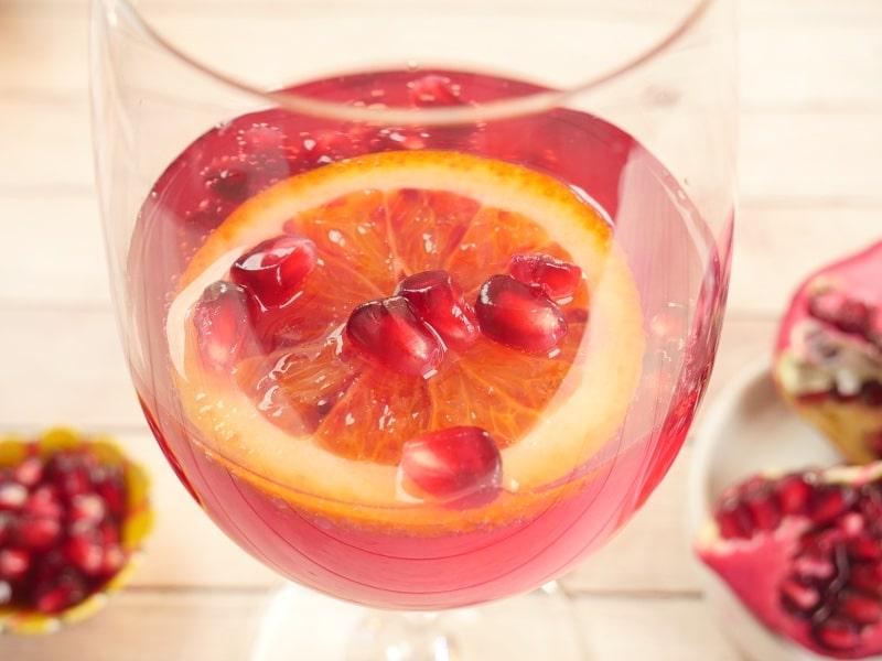Pomegranate Cocktail or Mocktail