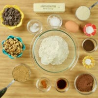Ingredients gathered and ready for mixing together.