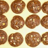 Spicy Chocolate Cookies ~ Cookies baked and cooling on the baking tray.