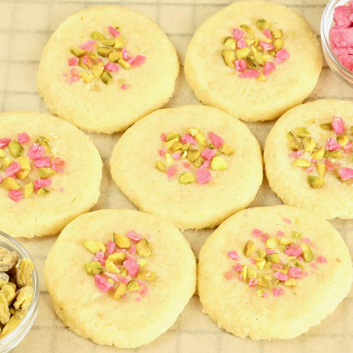 Tender, crunchy, lightly sweet, and pretty as a picture, these cardamom cookies