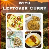 10 Things To Do With Leftover Curry - Pizza, pasta sauce, wraps, tacos, stuffed pasta and more!