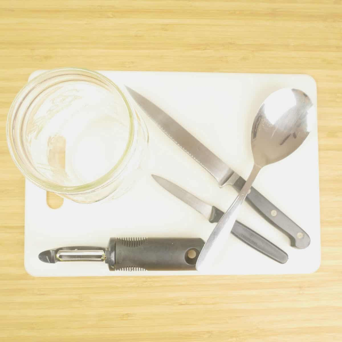 The equipment for making mango liqueur sterilized and ready to use.